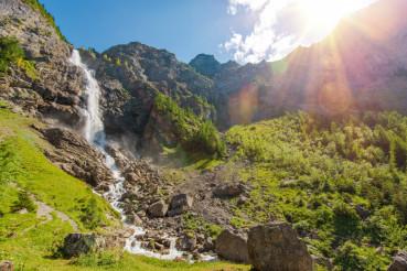 Adelboden Waterfalls Scenery