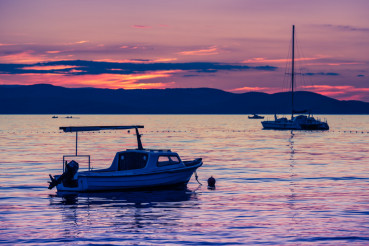 Adriatic Sea Scenic Sunset