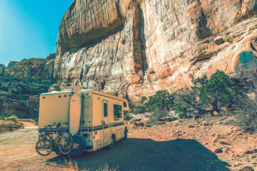 Aged Camper in the Canyon