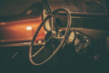 Aged Classic Car Interior