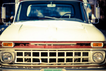 Aged Truck Front Closeup