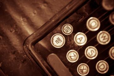 Aged Typewriter Closeup