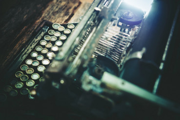 Aged Typewriting Machine