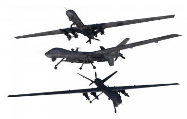 Airforce Drones PNG Isolated