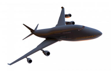 Airplane 3D PNG Dark