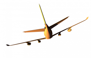 Airplane Rear View PNG