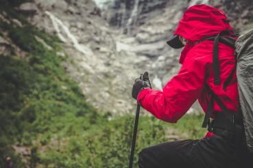 Alpine Trailhead Hiker