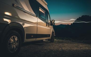 Alpine Wild Camping in a Camper Van
