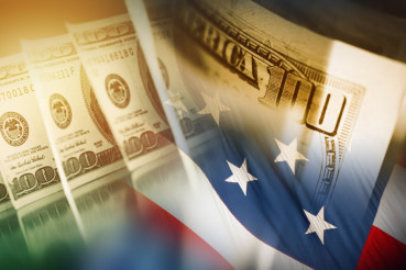American Dollar and the Flag