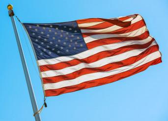 American Flag on a Pole