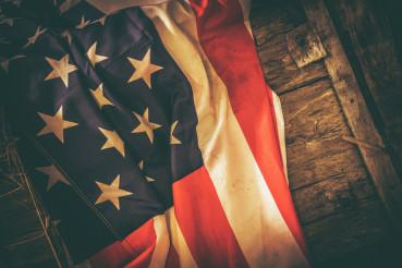 American Flag Vintage Theme