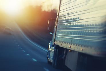 American Semi Truck on Highway