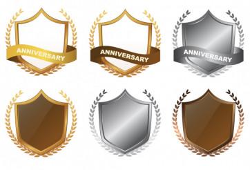 Anniversary Shield Badges