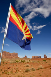 Arizona Flag and Lands