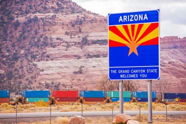 Arizona State Entrance Sign