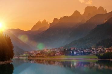 Auronzo Di Cadore Sunset