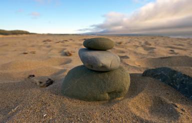 Balance Rocks on the Beach