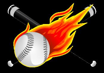 Baseball Flames PNG