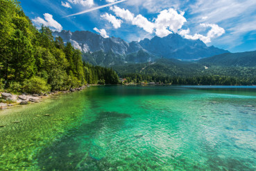 Bavarian Lake Eibsee Germany