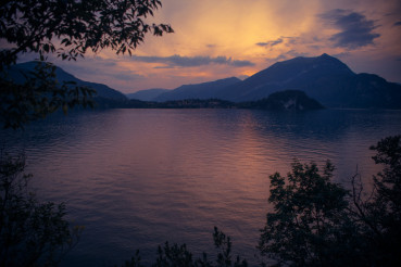 Bellagio Italy Lake Como Sunset