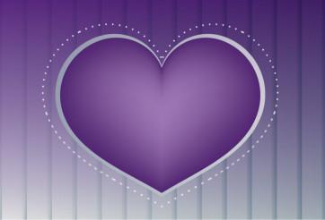 Big Purple Heart Vector Design