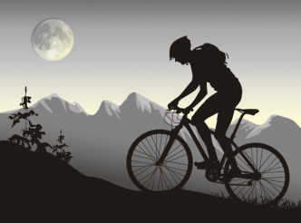 Biker on Bike