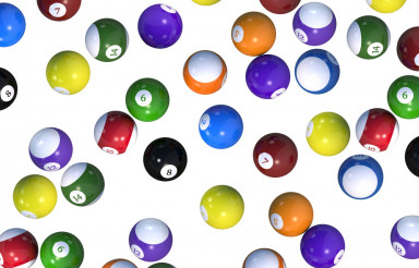 Billiard Balls Backdrop