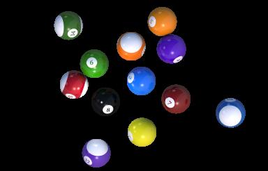 Billiard Balls Isolated PNG Illustration