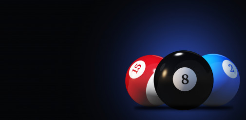 Three Pool Balls From Billiard Game.