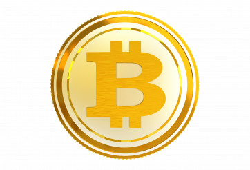 Bitcoin Golden Coin PNG 3D Isolated