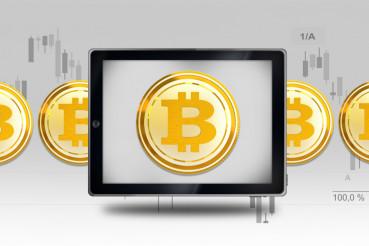 Bitcoin Mobile Trading Concept