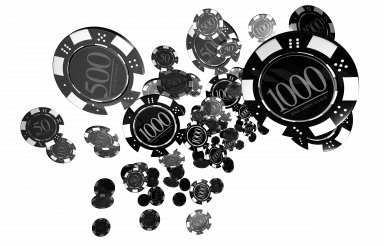 Black Casino Chips Isolated PNG Illustration