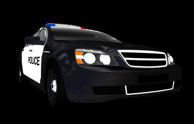Black Police Cruiser Front