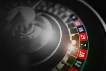 Black Roulette Game Closeup