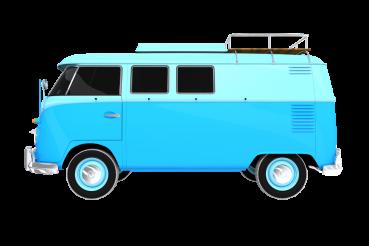 Blue Aged Camper PNG
