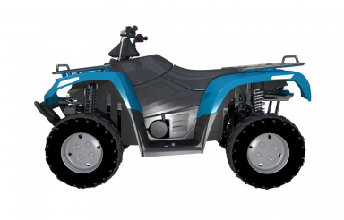 Blue ATV Side View