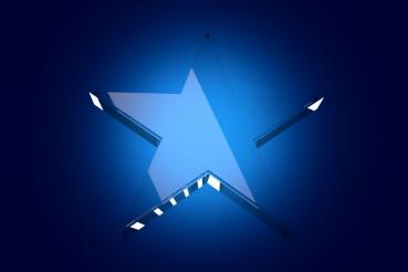 Blue Glass Star