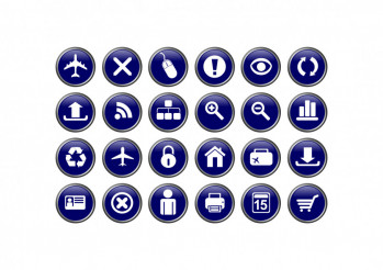 Blue Glassy Icons
