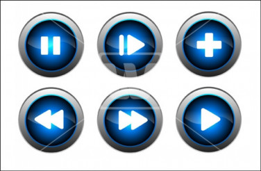 Blue Glossy Buttons
