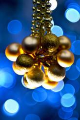 Blue Golden Ornaments