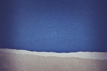 Blue Torn Paper Background