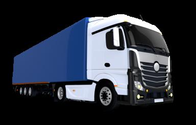 Blue Trailer Euro Semi Truck