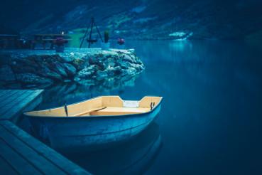 Boat and the Glacial Lake