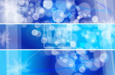 Bokeh Blue Vector Background