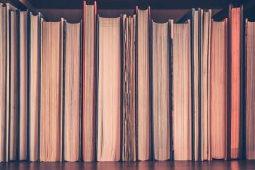 Books Shelf Closeup
