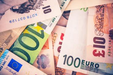 British Pound To Euro Concept