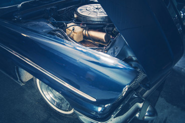 Broken Classic Car Closeup