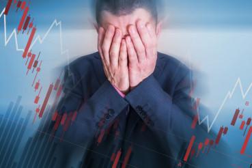 Broken Depressed Businessman