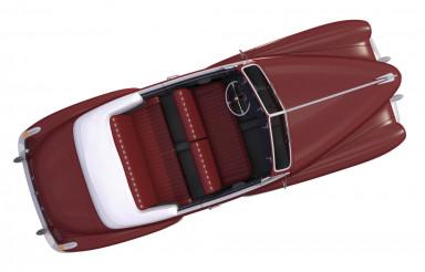 Brown Oldtimer Car Top View