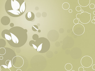Bubble Floral Vector Background